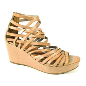 SIXTYSEVEN Tan Leather Strappy Platform Sandals
